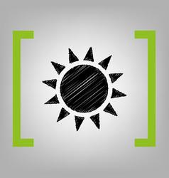 sun sign black scribble icon vector image