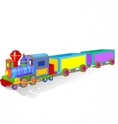 Toy train vector
