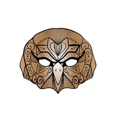 Tribal brown owl bird portrait vector