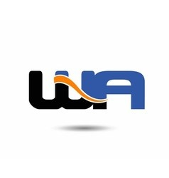 WA initial company group logo vector
