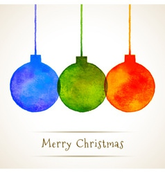 Watercolor Hand Drawn Christmas Balls vector