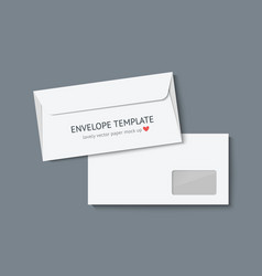 White envelopes on dark gray background vector image