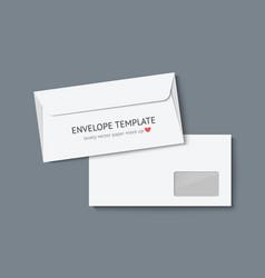 white envelopes on dark gray background vector image