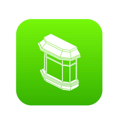 window balcony icon green vector image