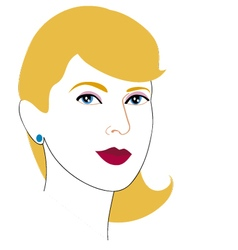 Woman face drawing 8 vector