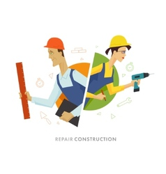 Worker male and female user symbol vector image