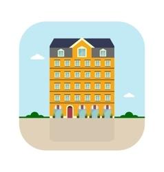 yellow high house vector image