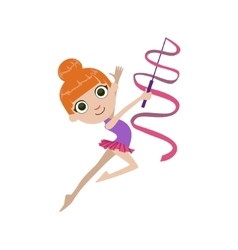 Young Rhythmic Gymnaste vector