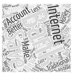 Internet Banking Savings Accounts Word Cloud vector image vector image