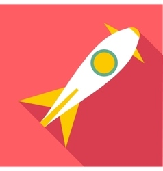 Rocket launch icon flat style vector