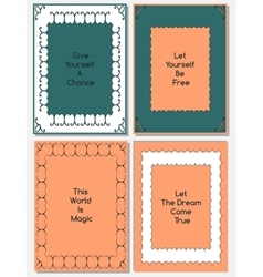 set of design templates vector image