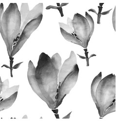 watercolor flowers hand drawing seamless pattern vector image vector image
