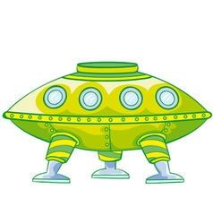 flying saucer vector image