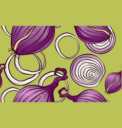 Natural organic farming vegetables pattern vector