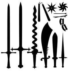 set of knives EPS10 vector image vector image