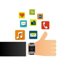 smart watch design vector image vector image