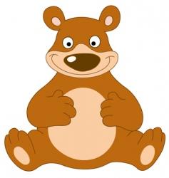 smiley bear vector image