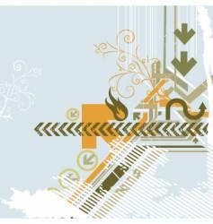 Urban background elements vector