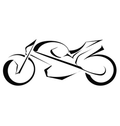 Black silhouette of a bike on a white background vector image vector image