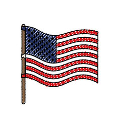 flag united states of america wave in flagpole and vector image