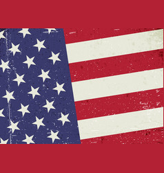 grunge united states of america flag abstract vector image vector image