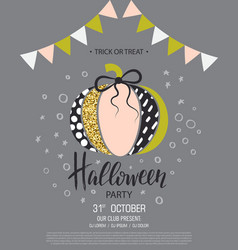 happy halloween invitation to party with cute vector image