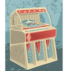 retro jukebox sketch vector image
