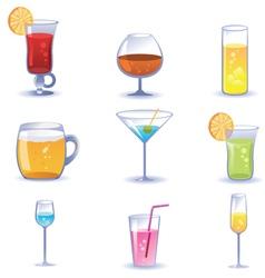 Set of summer cocktails vector image