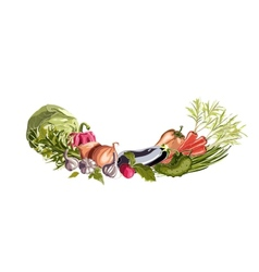 Vegetables Decorative Composition vector image vector image
