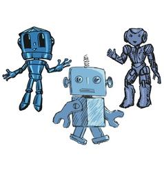 cute robots vector image vector image