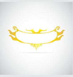 Gold frame on gray background vector image