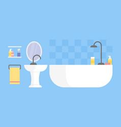 modern bathroom interior design icon vector image