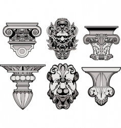 roman architectural decorations vector image