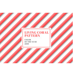 3d stripe lines diagonal pattern living coral vector image