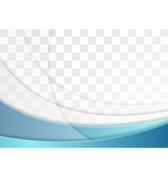 Abstract blue wavy flyer template design vector