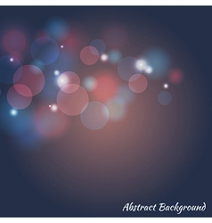 abstract colorful bokeh background vector image