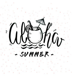 aloha summer juiec sand background image vector image