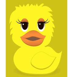 Animal duck with a colored background vector image