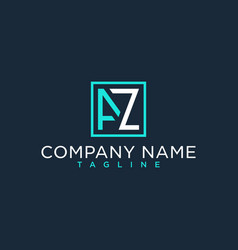 Az za initial logo luxury design inspiration vector