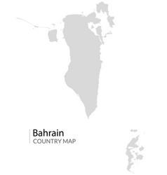 bahrain map icon arabic bahrain detailed vector image