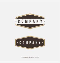 basic vintage emblem logo template vector image
