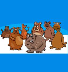 bears cartoon animal characters group vector image