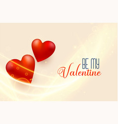 beautiful valentines day background with 3d red vector image