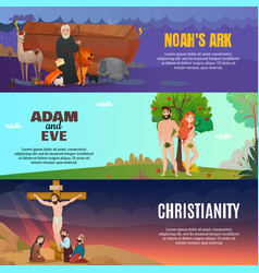 Bible story banners set vector
