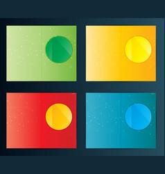 Brochure flyer design template set vector