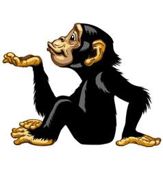 Cartoon chimp blowing a kiss vector