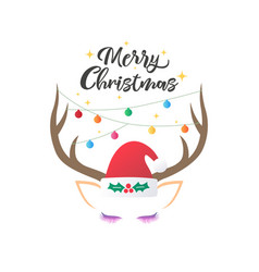 christmas and new year greeting or invitation vector image