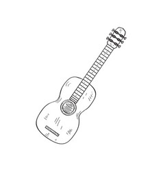 classical guitar icon sketch vector image