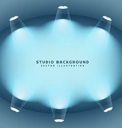 Clean studio lights background vector