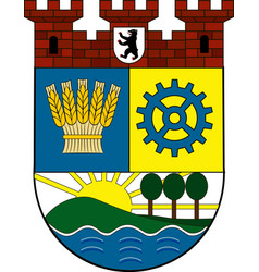 Coat of arms of lichtenberg in berlin germany vector